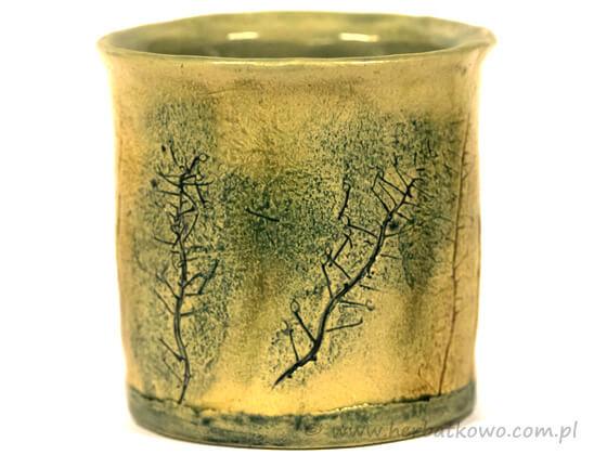 Kubek ceramiczny Ziołowy Zakątek II do yerba mate